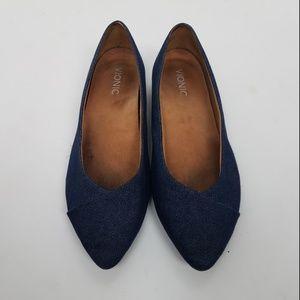Vionic Flats Sz 9 Blue